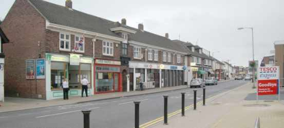 A photograph of Highcliffe main shopping area